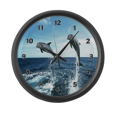 Dolphin Diving Giant Clock