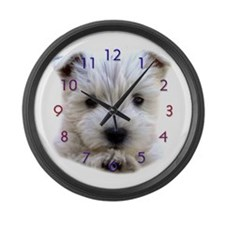 West Highland White Terrier Giant Clock