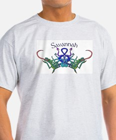 Savannah's Celtic Dragons Nam Ash Grey T-Shirt