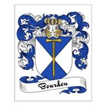 Bourdon Family Crest Small Poster