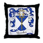 Bourdon Family Crest Throw Pillow