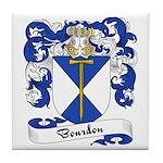 Bourdon Family Crest Tile Coaster
