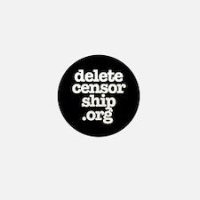 Delete Censorship Mini Button (10 pack)