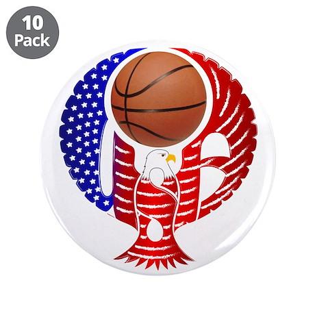 """USA Basketball Team 3.5"""" Button (10 pack)"""