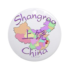 Shangrao China Map Ornament (Round)