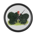 Black Frizzle Cochins Giant Clock