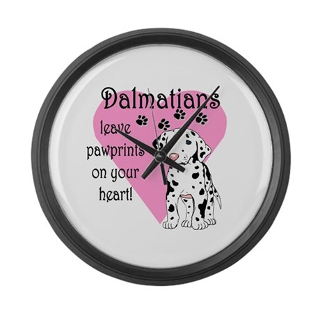 Dalmatian Pawprints Giant Clock