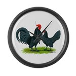 Blue Dutch Chickens Giant Clock