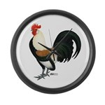 Dutch Bantam Rooster Giant Clock