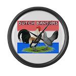 Dutch Bantams Giant Clock
