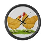 Buff Wyandotte Chickens Giant Clock
