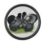 Gray Silkies Giant Clock