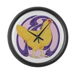 Hen Buff Chantecler Giant Clock