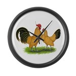 BT Buff Dutch Bantams Giant Clock
