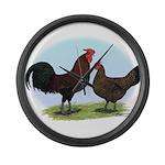 Redcap Fowl Giant Clock