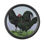 La Fleche Rooster and Hen Giant Clock