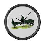 Black Sumatra Chickens Giant Clock