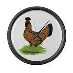 Gold Brabanter Hen Giant Clock