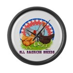 All American Breeds Giant Clock
