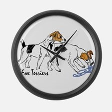 Wire & Smooth Fox Terriers Giant Clock