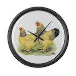 Buff Brahma Pair Giant Clock