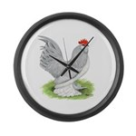 Self Blue Rooster Giant Clock