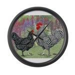Marans Chickens Giant Clock