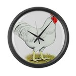 White Rooster Giant Clock