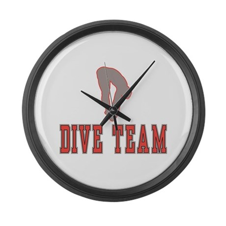 Red Dive Team Logo Giant Clock