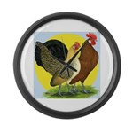 Red Quill Chickens Giant Clock