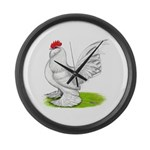 White d'Uccle Rooster Giant Clock