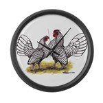 Silver Sebright Bantams Giant Clock