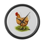 Golden Sex-link Hen Giant Clock