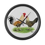 Norwegian Jaerhons Chickens Giant Clock