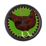 Rhode Island Red Hen2 Giant Clock