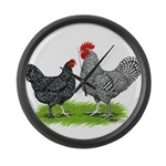 Marans Rooster and Hen Giant Clock