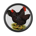 Rhode Island Red Pair Giant Clock
