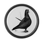 Prager Shortface Pigeon Giant Clock