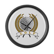 Classic Golf Emblem Giant Clock