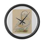 Indigo Tumbler Pigeon Giant Clock