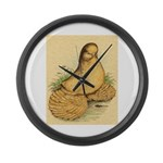 Muffed Tumbler Pigeon Giant Clock