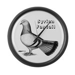 Syrian Fantail Pigeon Giant Clock