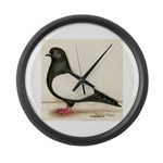 Black Whiteside Roller Pigeon Giant Clock