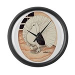 70s Indian Fantail Pigeon Giant Clock