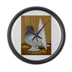 Indian Fantail Pigeon Giant Clock