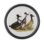 Crested Ducks Trio Giant Clock