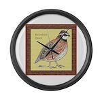 Bobwhite Framed Giant Clock