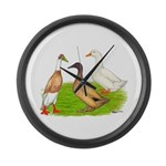 Egg and Meat Ducks Giant Clock