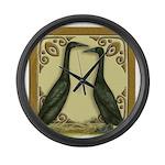 Black Runner Pair Giant Clock