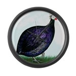Royal Purple Guineafowl Giant Clock